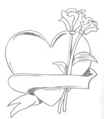 872x1000 love and rose drawing roses and heart drawing free clip