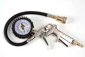 tire inflator with gauge. prestaflator tire inflator and gauge with t