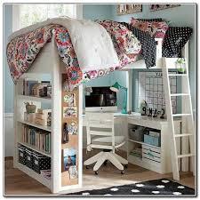 full loft bed with desk ikea