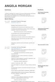 ... Vibrant Property Manager Resume Sample 10 Assistant Property Manager  Resume Samples ...