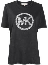 Michael Michael Kors <b>футболка с круглым</b> вырезом и логотипом ...