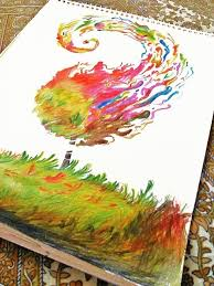 the tree of life abstract sketch on my drawing book