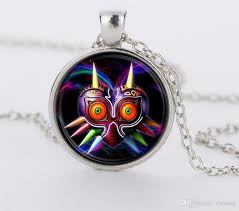 whole legend of zelda game majoras mask colorful owl glass round pendant charm necklace jewelry gift ftc n346 necklace pendants garnet pendant necklace