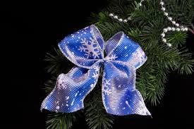 Weihnachtsschleife Blau Weiß Christbaumschleife Für Ihren Weihnachtsbaum