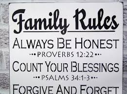 christian house rules wall art