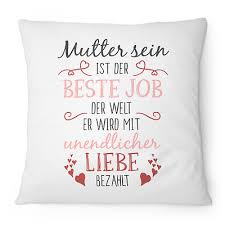 Kissen Mama Als Geschenk Zu Muttertag Oder Geburtstag Zierkissen Mit