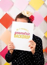 diy geometric backdrop perfect for parties photo booths diy on pizzazzerie com