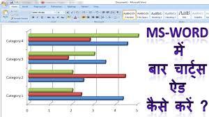 Make Me A Chart How To Make Bar Charts In Ms Word In Hindi Microsoft Word Me Bar Chart Kaise Add Karte Hai