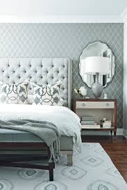 monochromatic-bedroom-grey-and-white-design-tuft-headboard