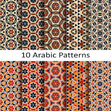 Arabic Patterns Classy Set Of Ten Arabic Patterns Stock Vector © Lenazolot 48