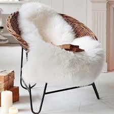 Faux Fur Sheepskin Washable Chair Throw Fur Chair Throw R62