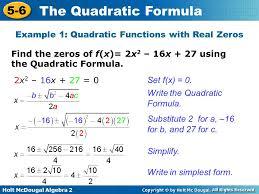 find roots of quadratic equation calculator jennarocca