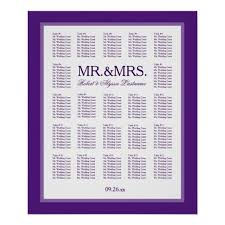Color Purple Seating Chart Mr Mrs Color Select Seating Chart