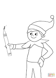 Small Picture Elf on the Shelf with Pencil Super Coloring Elf On The Shelf