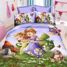 twin size 3pcs sofia the first 01 bedding set duvet cover bed sheet pillow cases