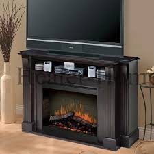 electric fireplace with mantel and storage