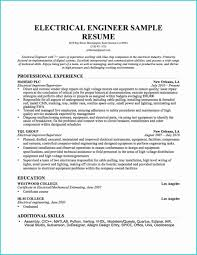 Best Sample Resume For Freshers Engineers Electrical Design Engineer Example Career Objective For