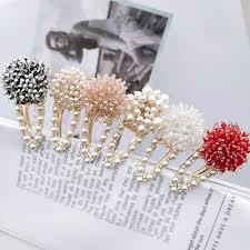 Korea Crystal Rhinestones <b>Hair Pins Imitation</b> Pearl Flower Hairclips ...