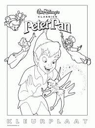 Peter Pan Tinkerbell Kleurplaten