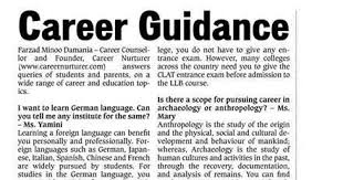 Career Guidance Articles Career Guidance Q A July 2013 By Farzad Minoo Damania