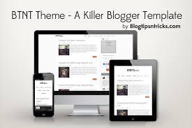 Blogger Mobile Template Btnt Theme A Responsive Blogger Template Blogtipsntricks
