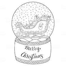Speelgoed Glas Sneeuw Globe Met De Kerstman Belettering Merry