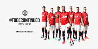 Manchester United's 2013-14 home kit is a collar and button affair