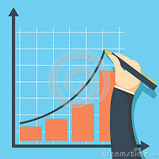 Growth Graph Concept Businessman Draws Chart Of Financial
