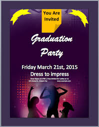 Microsoft Word Templates Invitations Graduation Party Invitation Flyer Template Word Templates