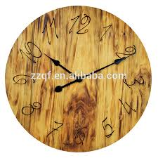 24 inch customized wood pallet large decorative wall clock