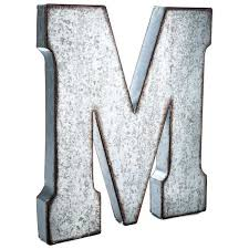 metal letter wall decor
