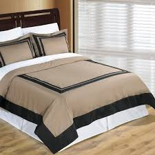 taupe black hotel twin xl duvet cover set wrinkle resistant egyptian cotton free