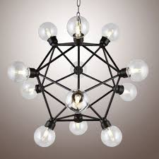 Edison Light Fixtures Canada 12 Heads Vintage Edison Bulbs Polyhedron Metal Frame Farmh