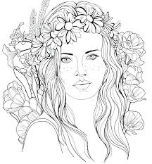 Hair Coloring Pages Long Hair Coloring Pages Girl Hair Coloring