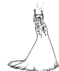 Coloring Pages Dresses Wedding Dress Coloring Pages Printable