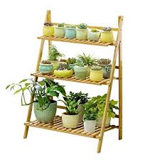 Wooden Ladder Display Stand Amazon Ufine Bamboo Wood Ladder Plant Stand 100Tier Foldable 72