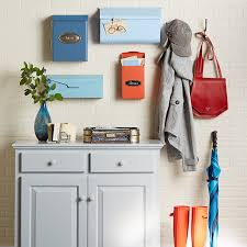 cabinet storage mailboxes and garment hooks