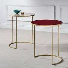 enamel round nesting tables set of 2