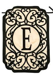 evergreen initial garden flag side cropped image
