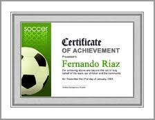 Soccer Award Certificate Template - Whosonline.co