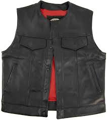 legendary brotherhood mens leather motorcycle vest with pockets