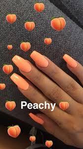 Peach Nail Designs Pinterest P I N T E R E S T Rachaelgbolaru17 Acrylicnailart In 2019