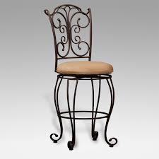 wrought iron swivel bar stools. Interesting Swivel Linon Perham Gathered Back Swivel 24 In Counter Stool  02790MTL01KD On Wrought Iron Bar Stools R