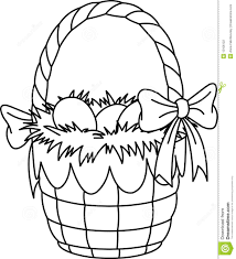 Easter Basket Coloring Page Stock Illustration Illustration Of