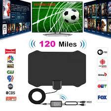 120 Dặm Antena Kỹ Thuật Số HDTV Trong Nhà Tivi Anten Có Mạch Khuếch Đại  Tăng Cường Tín Hiệu Truyền Hình Bán Kính Lướt Cáo Antena TV HD Ăng Ten trên  Không