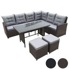 Svita Monroe Polyrattan Ecksofa Rattan Lounge Esstisch Gartenmöbel