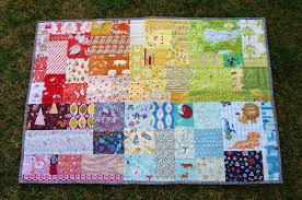 Fabric Mutt: Rainbow Patch Baby Quilt & Rainbow Patch Baby Quilt Adamdwight.com