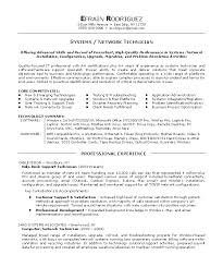 sample technician resume