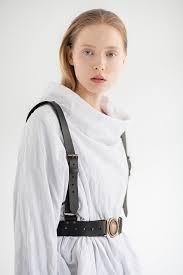 leather harness shoulder leather harness black leather harness belt harness with led belt