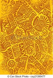 Mexican Pattern Inspiration Mexican Pattern Illustrated Mexican Pattern In Orange And Brown